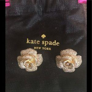 Kate Spade LUX rosebud earrings